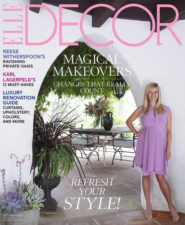 Reese Witherspoon, Elle Décor Cover
