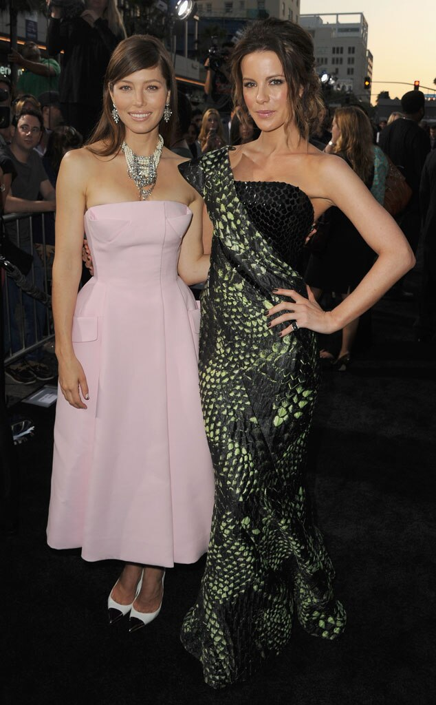 Total Recall Premiere, Jessica Biel, Kate Beckinsale