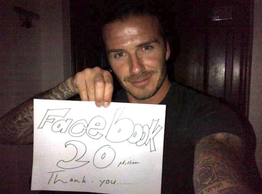 David Beckham, Facebook