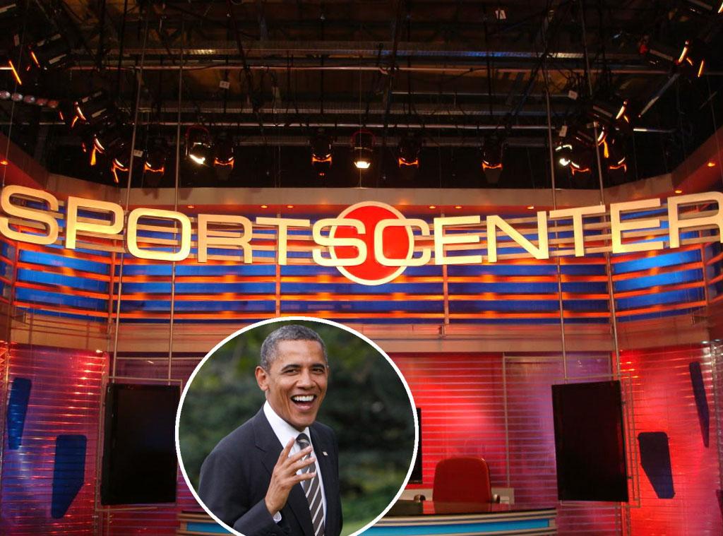 Barack Obama, Sports Center