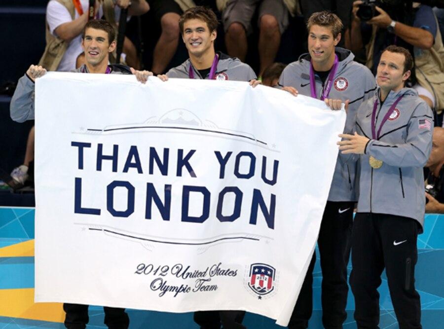 Michael Phelps, Nathan Adrian, Matthew Grevers, Brendan Hansen