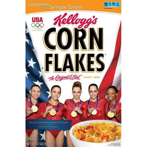 Fierce Five, Corn Flakes Box, Gabby Douglas, McKayla Maroney, Aly Raisman, Kyla Ross, Jordyn Wieber