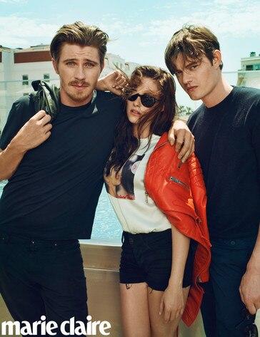 Kristen Stewart, Garrett Hedlund, Sam Riley Marie Claire