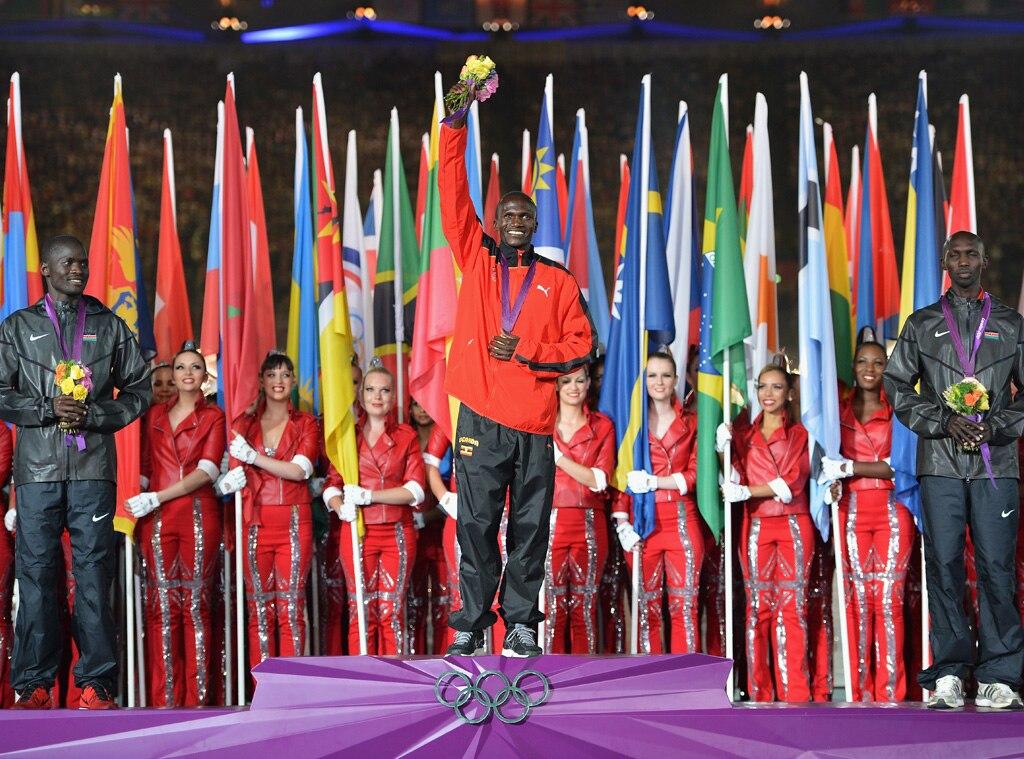 Closing Ceremony London 2012 Olympic Games, Abel Kirui, Stephen Kiprotich, Kipsang Kiprotich