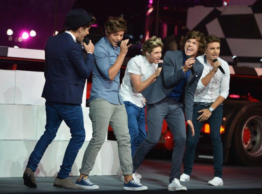 Closing Ceremony London 2012 Olympic Games, Zayn Malik, Louis Tomlinson, Niall Horan, Harry Styles, Liam Payne, One Direction
