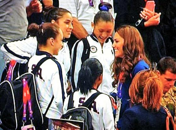 Kate Middleton, US Gymnastics team