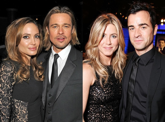 Angelina Jolie, Brad Pitt, Jennifer Aniston, Justin Theroux