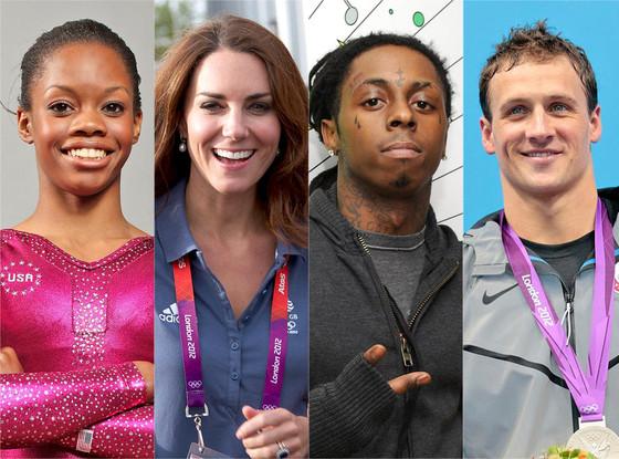 Kate Middleton, Lil Wayne, Ryan Lochte, Gabby Douglas