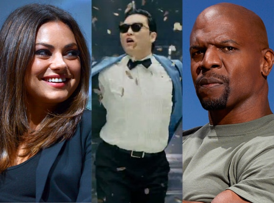 Mila Kunis, Psy, Terry Crews, Stars Earn Stripes