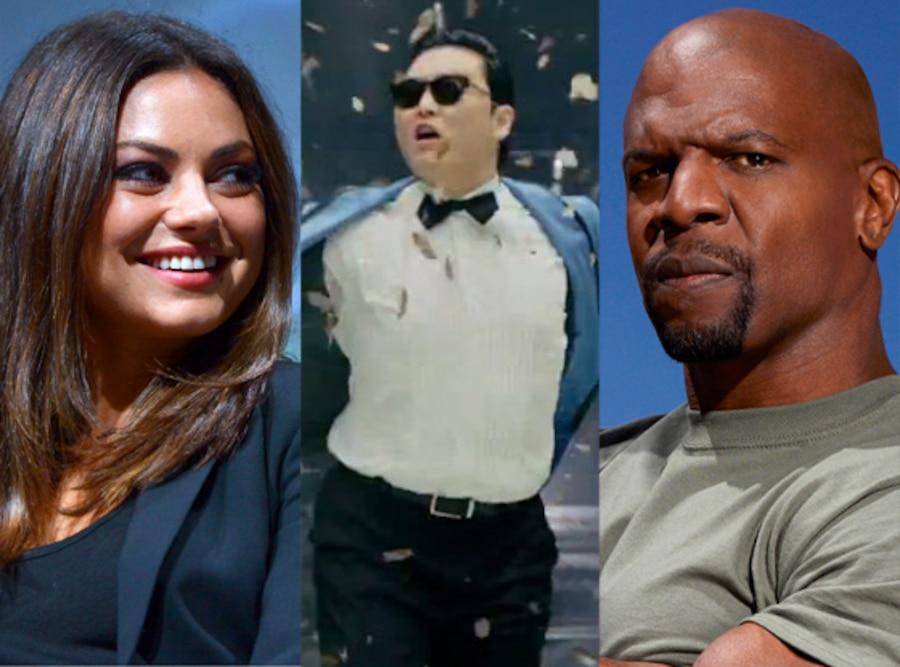 Mila Kunis, Psy, Terry Crews, Stars Earn Stripes
