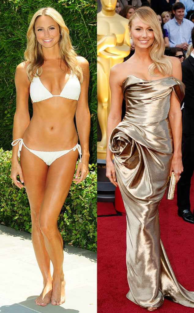 Stacy Keibler, Bikini vs Red Carpet