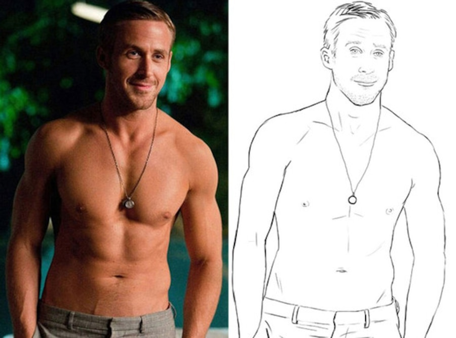Ryan Gosling Coloring Book, Crazy Stupid Love