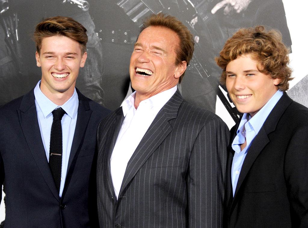 Patrick Schwarzenegger, Arnold Schwarzenegger, Christopher Schwarzenegger