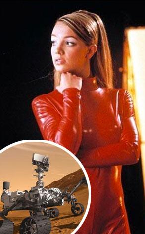 Britney Spears,  Mars Rover Curiosity