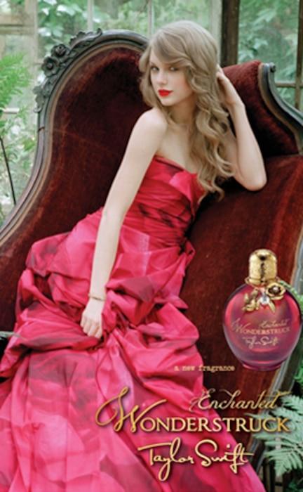 Taylor Swift, Enchanted Wonderstruck Perfume Ad