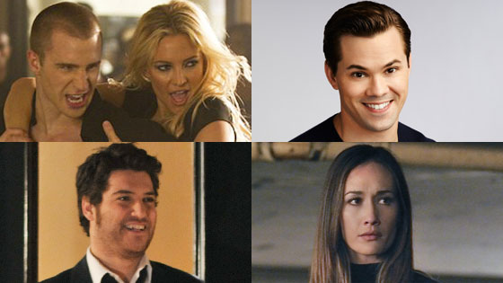 Adam Pally, Happy Endings Maggie Q, Nikita Andrew Rannells, New Normal, Kate Hudson, Glee