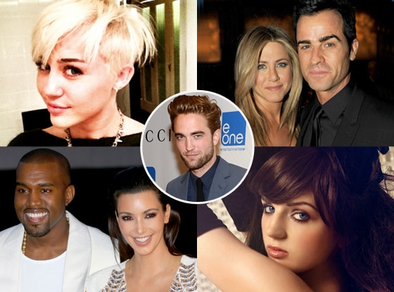 Miley Cyrus, Jennifer, Justin, Kanye, Kim, Katrina Darling