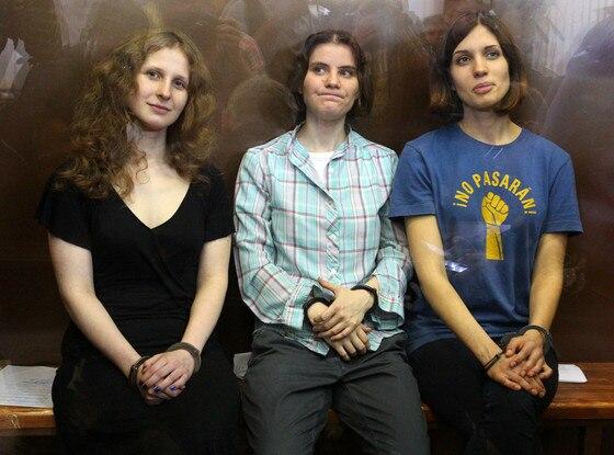 Pussy Riot, Nadezhda Tolokonnikova, Maria Alyokhina, Yekaterina Samutsevich