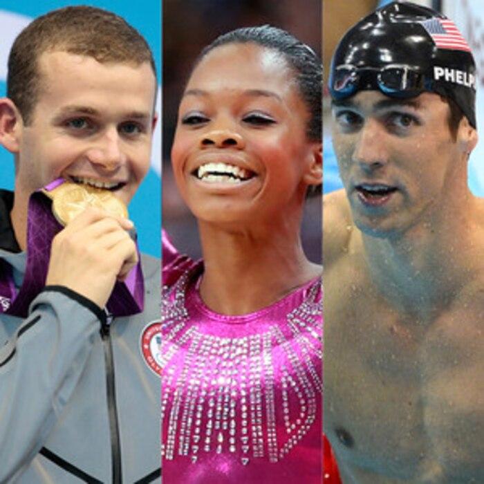 Tyler Clary, Gabby Douglas, Michael Phelps