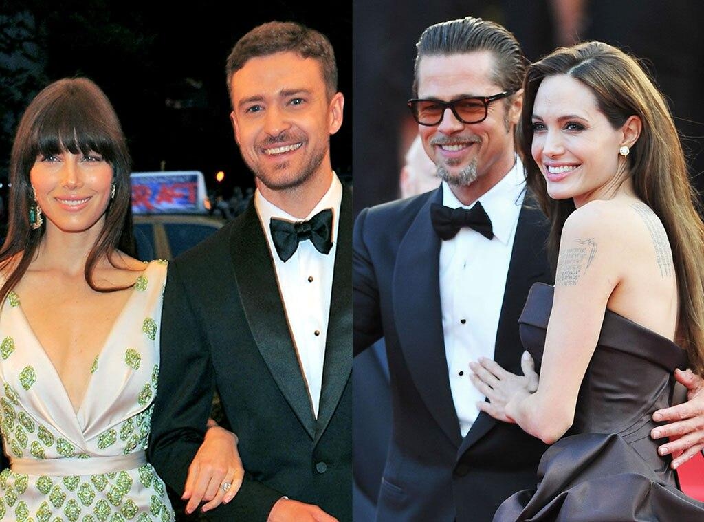 Angelina Jolie, Brad Pitt, Justin Timberlake, Jessica Biel