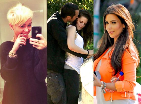 Kristen Stewart, Miley Cyrus, Kim Kardashian