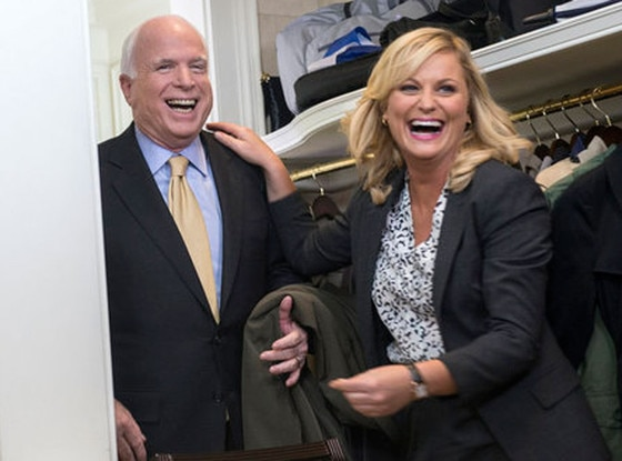 PARKS AND RECREATION, Senator John McCain, Amy Poehler
