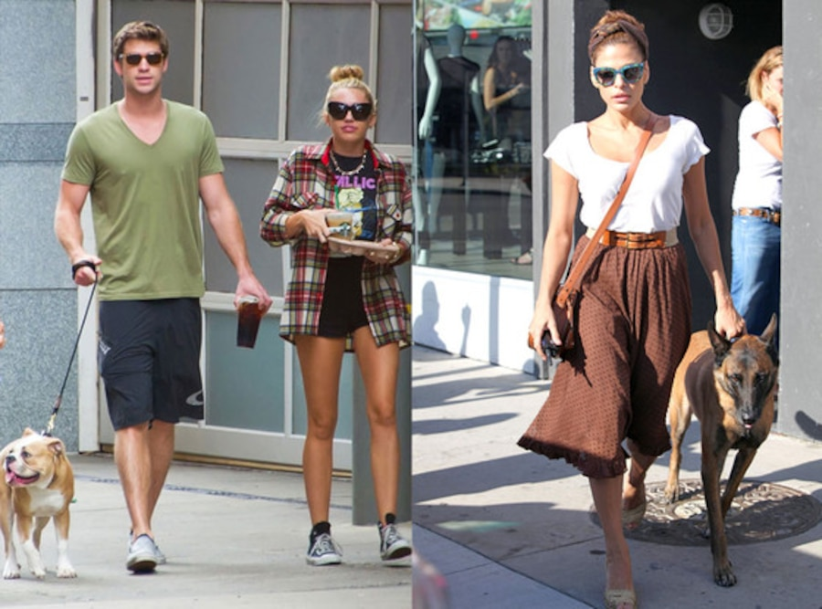 Liam Hemsworth, Miley Cyrus, Eva Mendes