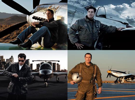 Top gun john travolta suits up in pilot gear e news for John travolta breitling