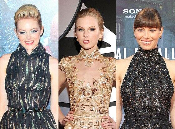 Jessica Biel, Taylor Swift, Emma Stone