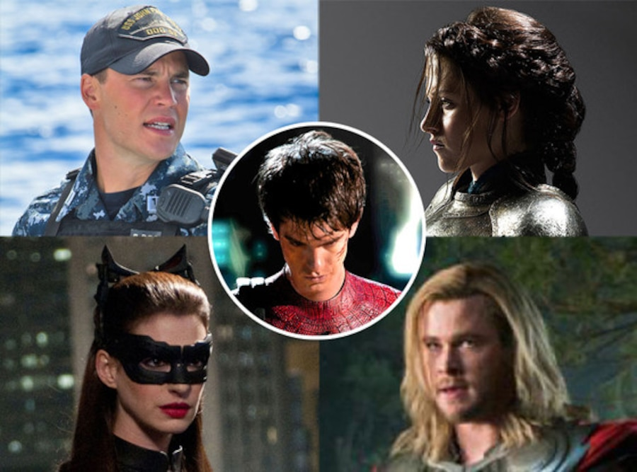 Battleship, Snow White and the Huntsman, Spiderman, The Avengers, The Dark Knight Rises