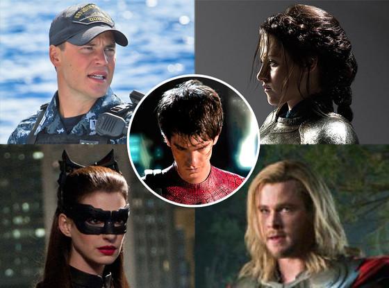 Battleship, Snow White and the Huntsman, Spiderman, The Avengers, The Dark Knight Rises