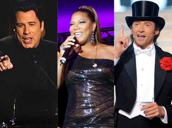 John Travolta, Queen Latifah, Hugh Jackman