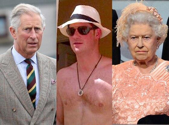 Prince Charles, Prince Harry, Queen Elizabeth