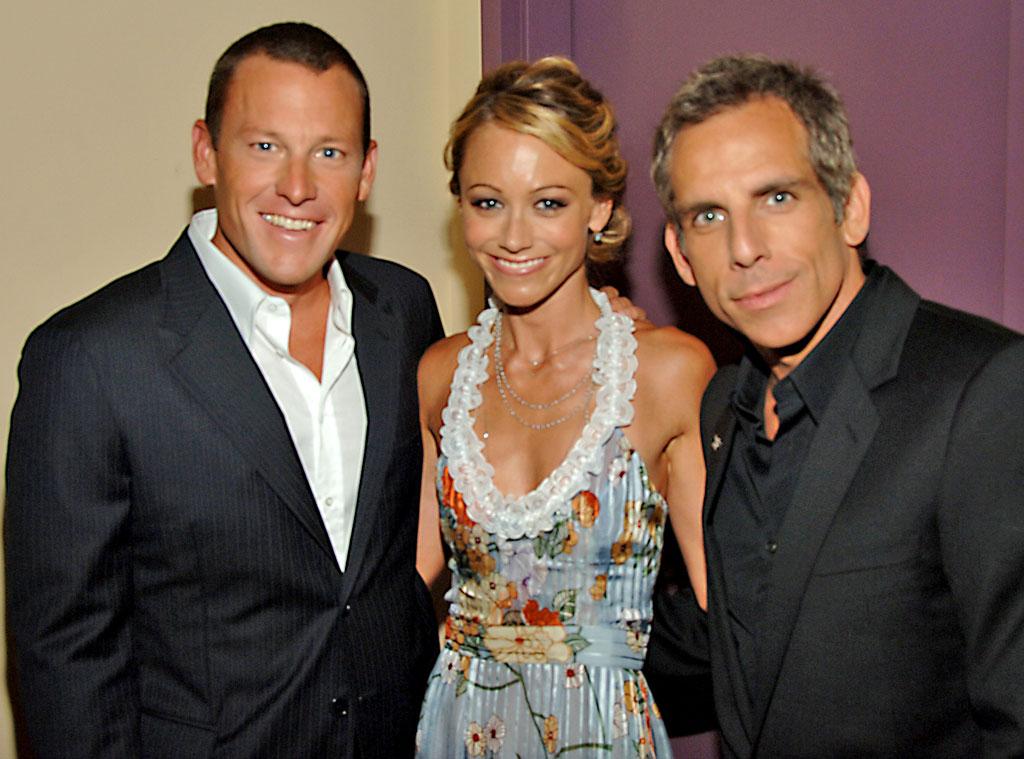 Lance Armstrong, Christine Taylor, Ben Stiller