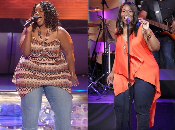Mandisa, before and after