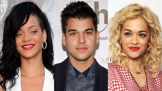 Rihanna, Rob Kardashian, Rita Ora