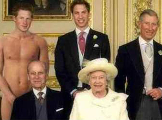 Prince Harry pictured moments after photos of his naked