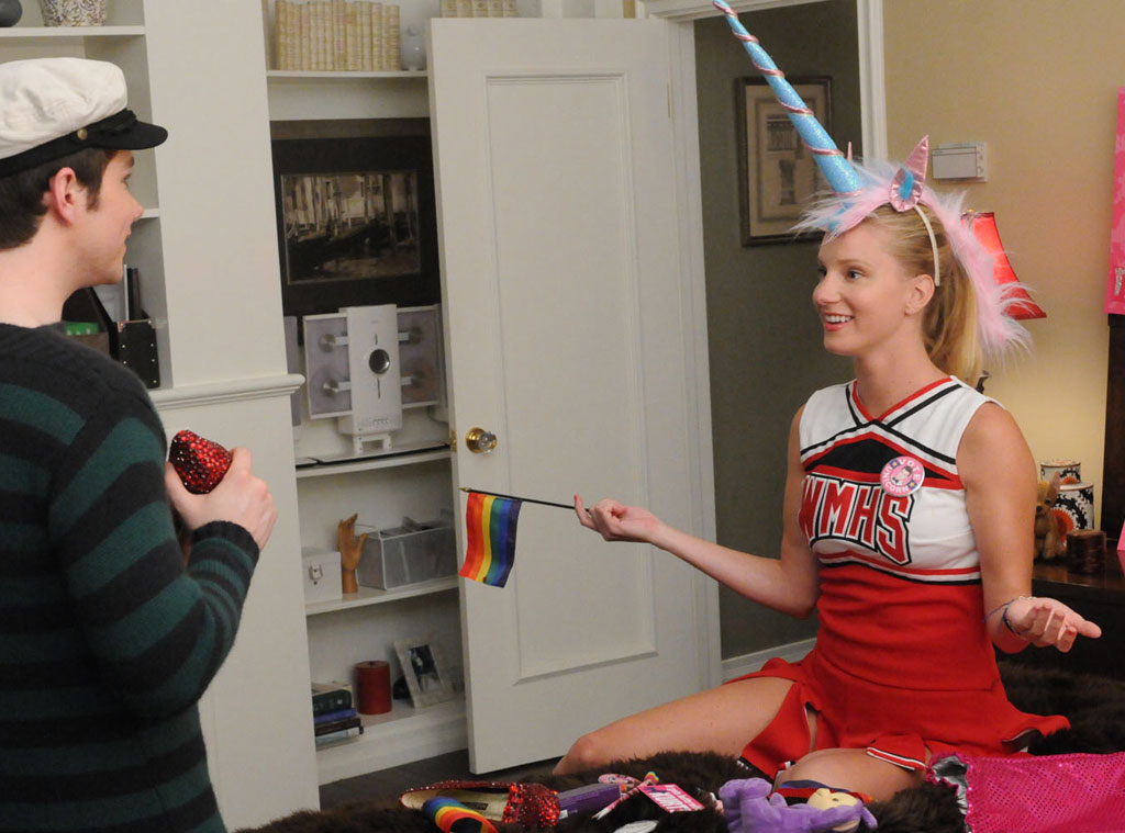 Chris Colfer, Heather Morris, Glee