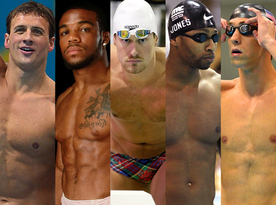 Ryan Lochte, Jordan Burroughs, Peter Vanderkaay, Cullen Jones, Michael Phelps