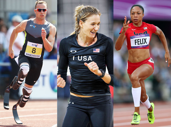 Oscar Pistorius, Misty May-Treanor, Allyson Felix