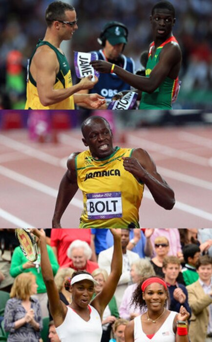 Venus Williams, Serena Williams, Usain Bolt, Oscar Pistorius, Kirani James, 2012 Summer Olympics