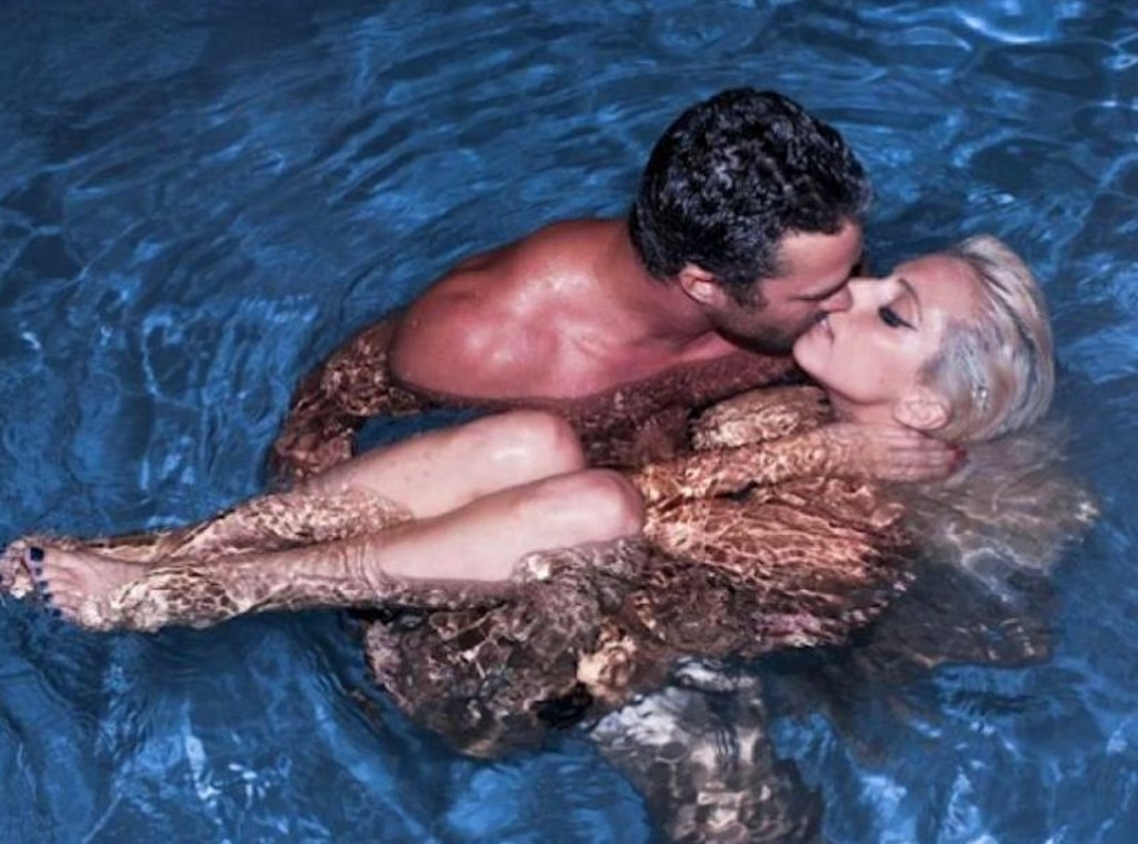 Hot and sizzling photo of Lady Gaga and her ex-boyfriend Taylor Kinney.