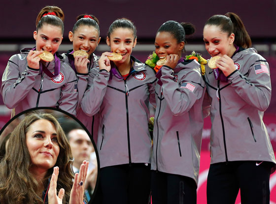 Kate Middleton, Fab Five, U.S. Gymnastics Team
