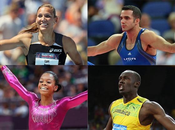 Lolo Jones, Danell Leyva, Gabby Douglas, Usain Bolt, Olympics