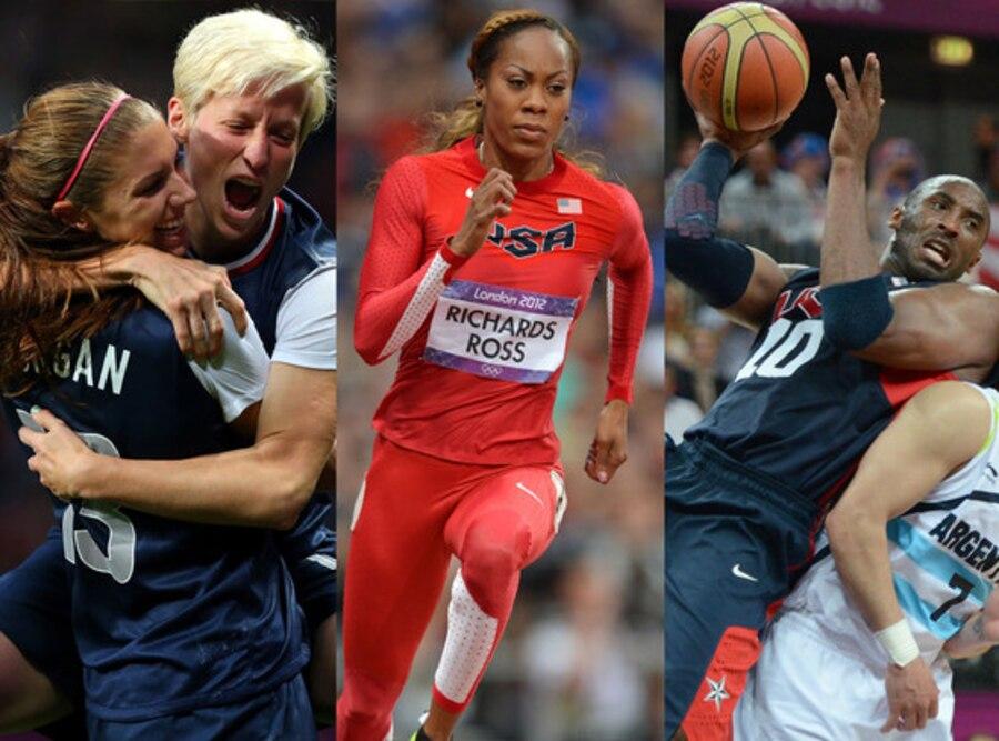 Megan Rapinoe, Alex Morgan, Kobe Bryant, Sanya Richards-Ross, 2012 Summer Olympics