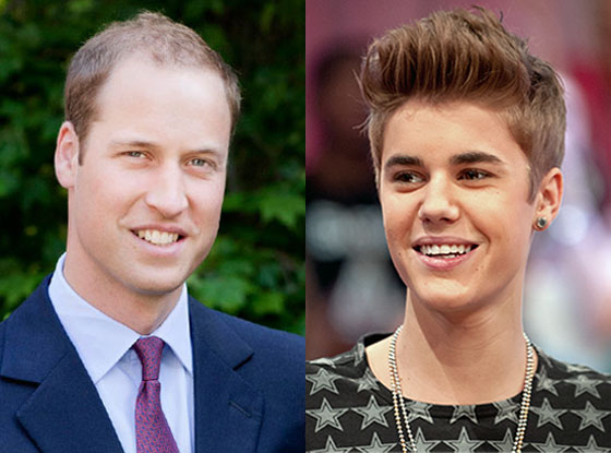 Prince William, Justin Bieber