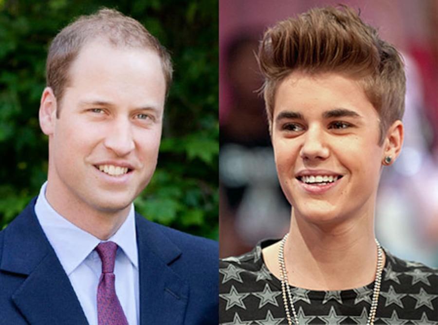 Prince William, Justin Bieber
