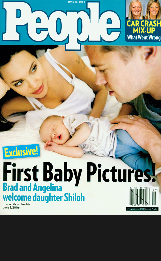 Black Bar for Galleries, Brad Pitt, Angelina Jolie, Shiloh, People Cover
