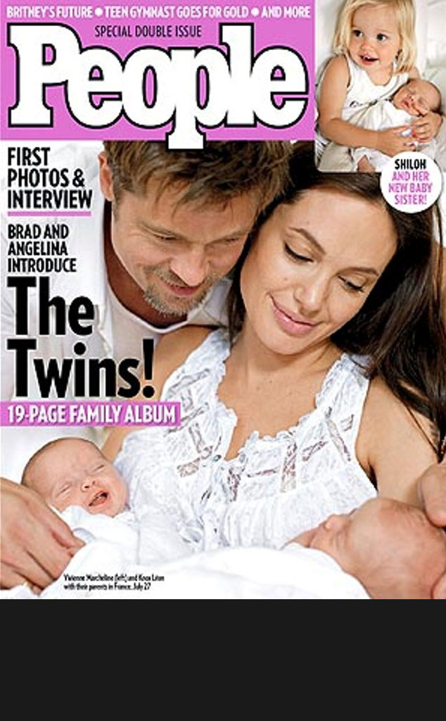 Black Bar for Galleries, Brad Pitt, Angelina Jolie, Knox, Vivenne, People Cover