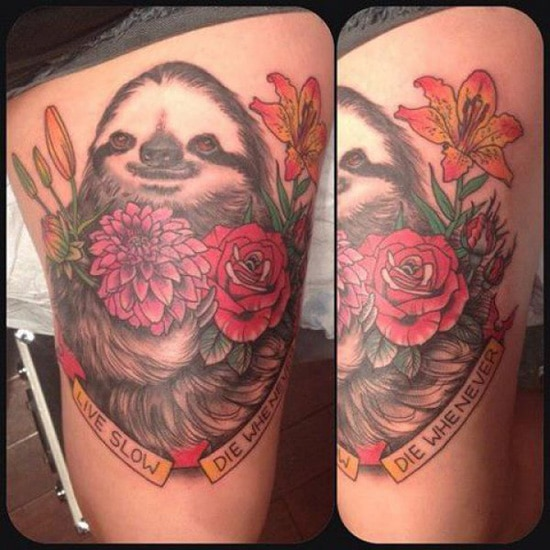 Sloth Tattoo Soup 550
